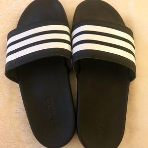 ADIDAS Slides - Black and White - Size 7